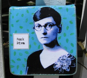 <p>Rock Diva purse, back, by Penny Richards</p>