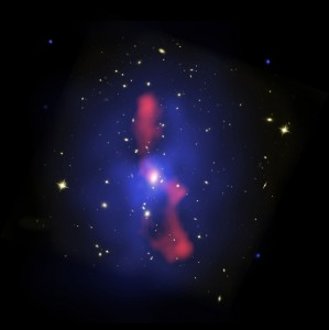 Host Galaxy Cluster to Largest Known Radio Eruption, November 2, 2006, NASA, ESA, and B. McNamara (U