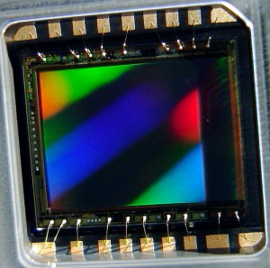 Silicon Eye, from the inner core.... the 5 Megapixel CCD sensor that electronically captures the ima