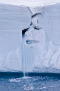 Mother Nature in Tears, Austfonna Ice Cap in Svalbard, Norway, 2009, by Michael S. Nolan, Digital ph