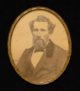 Albumen portrait of the Reverend Levi L. Hill, Baptist minister and early daguerreotypist, West Kill
