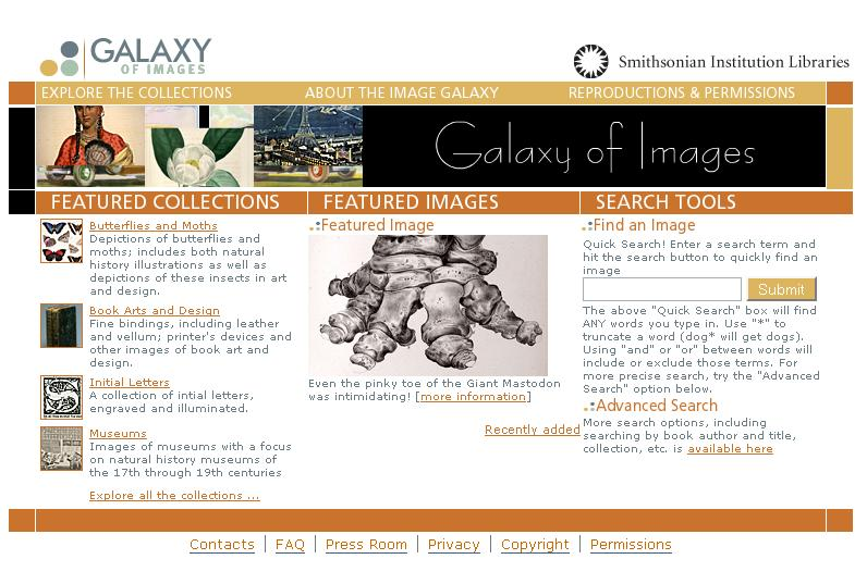 Galaxy of Images - Smithsonian Institution Libraries