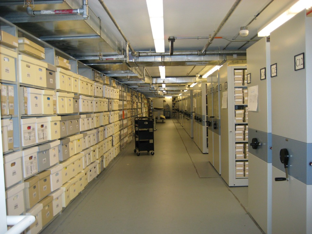 Smithsonian Institution Archives On-site Collection Storage, Capital Gallery, 2009, by Jennifer Wrig