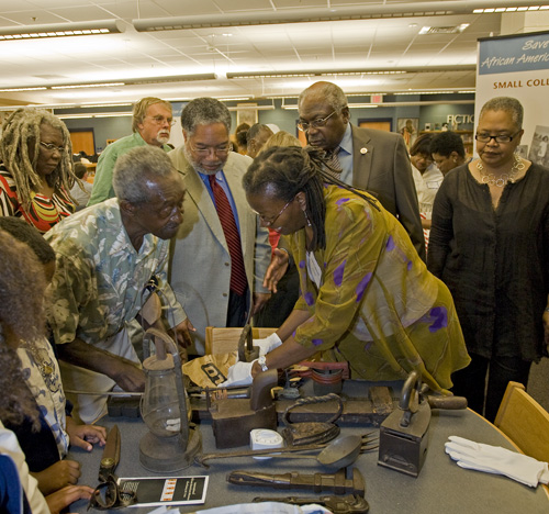"Participants in the ""Save Our African American Treasures"" program held in May"