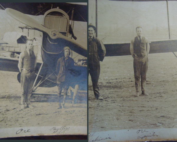 Composite of details from the two sides of the photograph as evidence that Ore made it to pose with