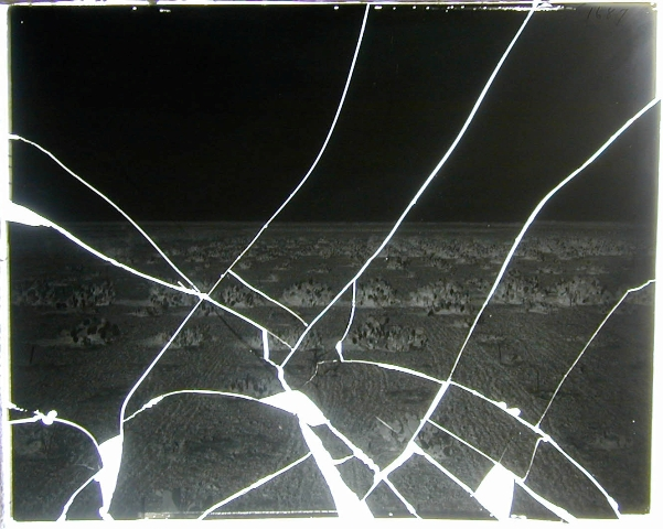 A Broken Glass Plate Negative, Courtesy of Smithsonian Institution Archives.
