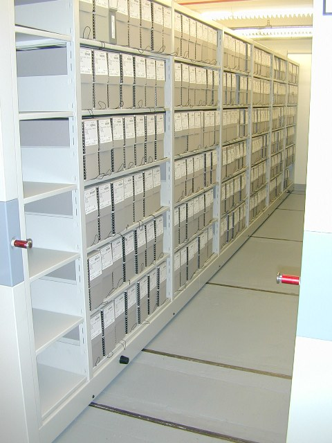 Smithsonian Institution Archives Collections Storage, c. 2007.