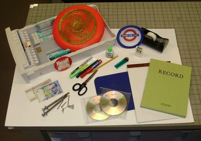 Examples of non-archival items found in boxes transferred to SIA, 2010.