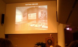 "Mary Savig of Archives of American Art speaks about their exhibition, ""Hard Times."""