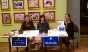 Center for Folklife and Cultural Heritage ladies manning their table.