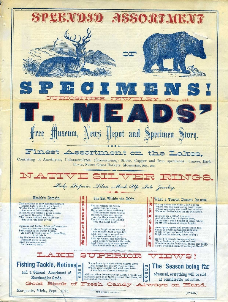 T. Mead advertising circular (click to enlarge), Smithsonian Institution Archives, Record Unit 305: