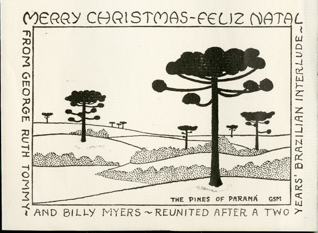 George Sprague Myers (1905-1985) Family Christmas Card, c. 1944, Smithsonian Institution Archives, R