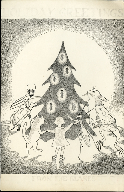 Doris Holmes Blake (1892-1978) Family Christmas Card, undated, Smithsonian Institution Archives, Rec