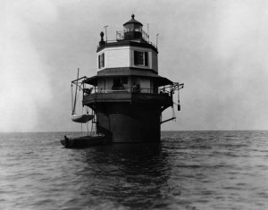 Soloman's Lump Light Station, Chesapeake Bay, c. 1880s, by Unidentified photographer, Photographic n