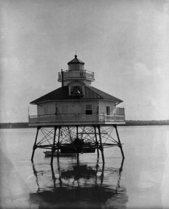 Bells Rock Lighthouse, Chesapeake Bay, c. 1880s, by Unidentified photographer, Photographic negative