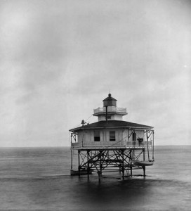 Deep Water Shoals Light Station, Chesapeake Bay, 13 August 1885, by Major James A. Smith, Photograph