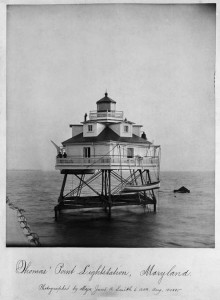 Thomas Point Lightstation, Maryland, 6 a.m. Aug. 18-1885, by Major James A. Smith, Photographic nega