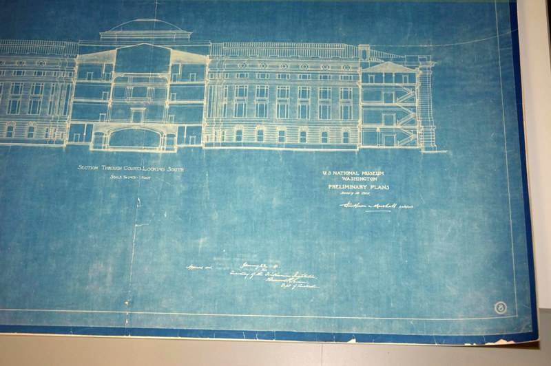 Hindsight is 2020 revisiting paper treatments from twenty years blueprint of the us national museum now the arts industries building click to enlarge 1904 by hornblower and marshall smithsonian institution malvernweather Gallery