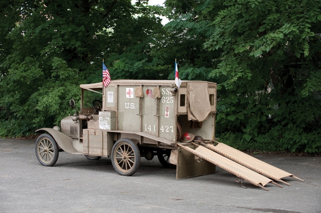 An example of a 1917 Ford Model T Ambulance, Photo Credit Darin Schnabel (c) 2010 Courtesy of RM Auc