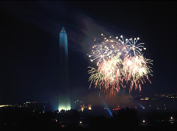 Richard Strauss shot these Desert Storm Victory Celebration fireworks from the roof of the National