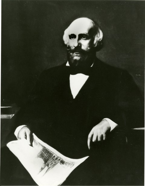 James Renwick, Jr., 1853, by John Whetten Ehninger, photograph of oil painting on canvas, courtesy o