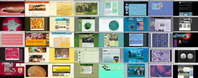 A few of the Smithsonian's many websites.